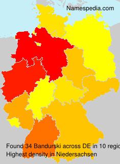 Familiennamen Bandurski - Germany