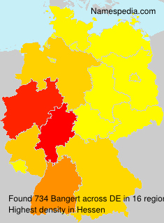 Surname Bangert in Germany