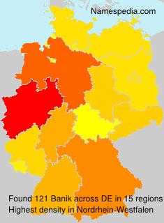 Familiennamen Banik - Germany