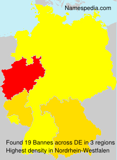 Surname Bannes in Germany