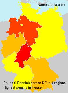 Surname Bannink in Germany