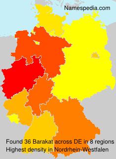 Surname Barakat in Germany