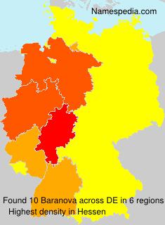 Familiennamen Baranova - Germany