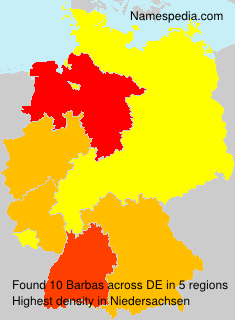 Surname Barbas in Germany