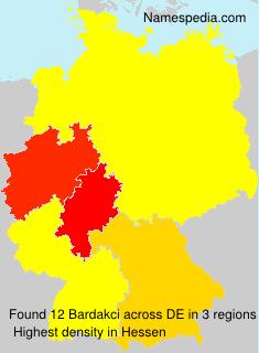 Familiennamen Bardakci - Germany