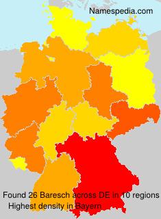 Familiennamen Baresch - Germany