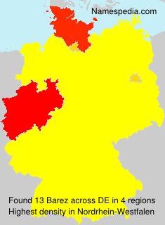 Surname Barez in Germany