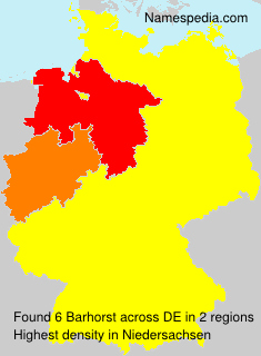 Surname Barhorst in Germany