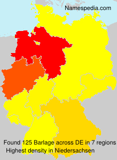 Surname Barlage in Germany