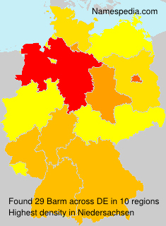 Familiennamen Barm - Germany