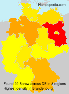 Surname Barow in Germany