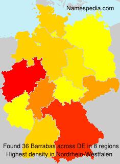 Surname Barrabas in Germany