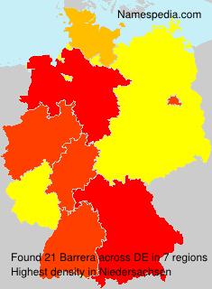 Surname Barrera in Germany