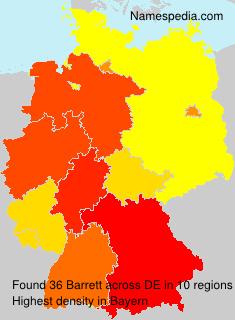 Familiennamen Barrett - Germany