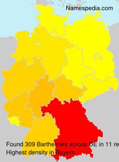 Familiennamen Barthelmes - Germany