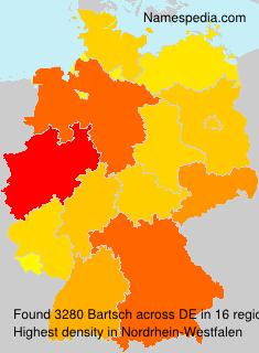 Familiennamen Bartsch - Germany