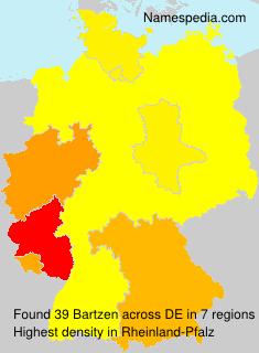 Surname Bartzen in Germany