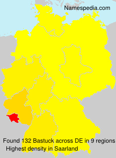 Surname Bastuck in Germany