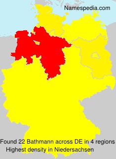 Familiennamen Bathmann - Germany