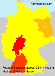 Surname Baudouin in Germany