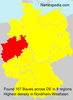Surname Baues in Germany