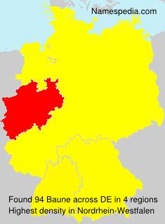 Familiennamen Baune - Germany