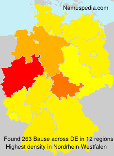 Surname Bause in Germany