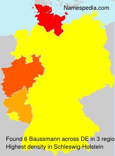 Surname Baussmann in Germany