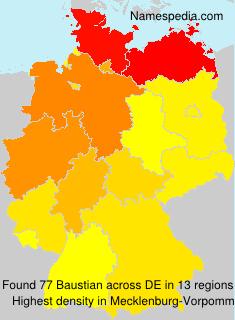 Surname Baustian in Germany
