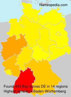 Surname Bay in Germany