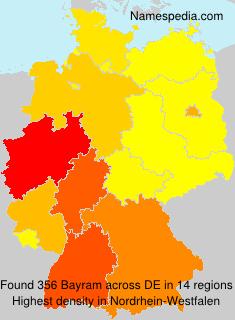 Familiennamen Bayram - Germany