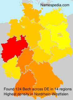 Surname Bech in Germany