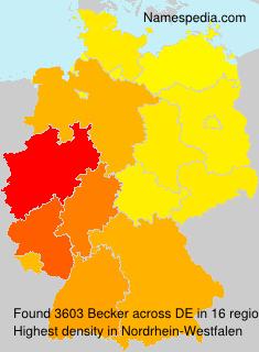 Familiennamen Becker - Germany