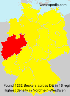 Surname Beckers in Germany