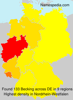 Familiennamen Becking - Germany