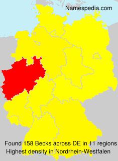 Surname Becks in Germany