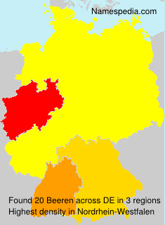 Surname Beeren in Germany