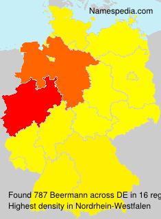 Surname Beermann in Germany