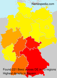 Familiennamen Beez - Germany