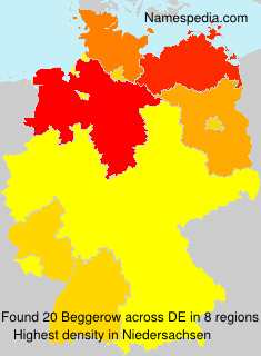 Surname Beggerow in Germany