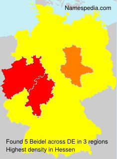 Surname Beidel in Germany