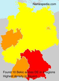 Familiennamen Bekic - Germany