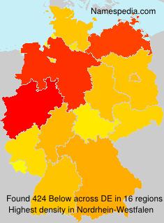 Surname Below in Germany