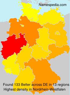 Familiennamen Belter - Germany