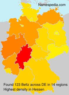 Surname Beltz in Germany