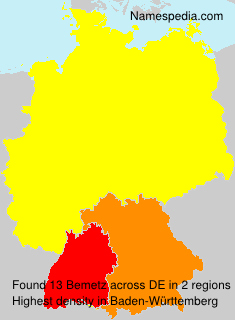 Surname Bemetz in Germany