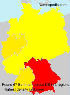Surname Bemmerl in Germany