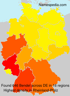 Surname Bendel in Germany