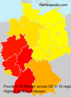 Surname Bender in Germany