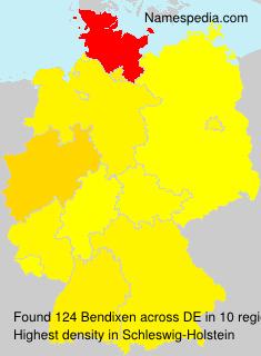 Surname Bendixen in Germany